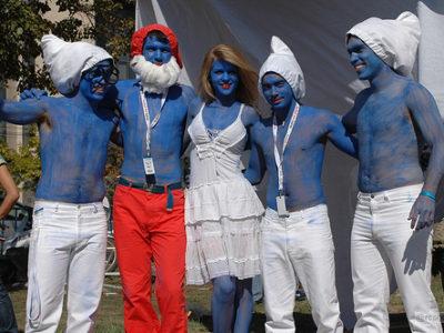 Fantasia de Smurf, Smurfette, Papai Smurf e Gargamel – Tutorial Como Fazer